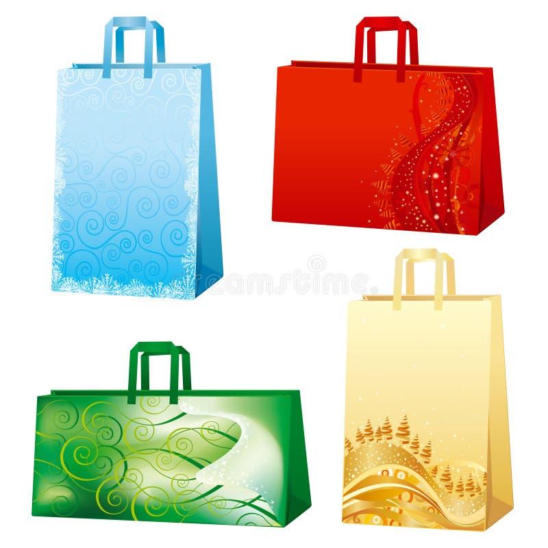 De zakken van Kerstmis stock illustratie
