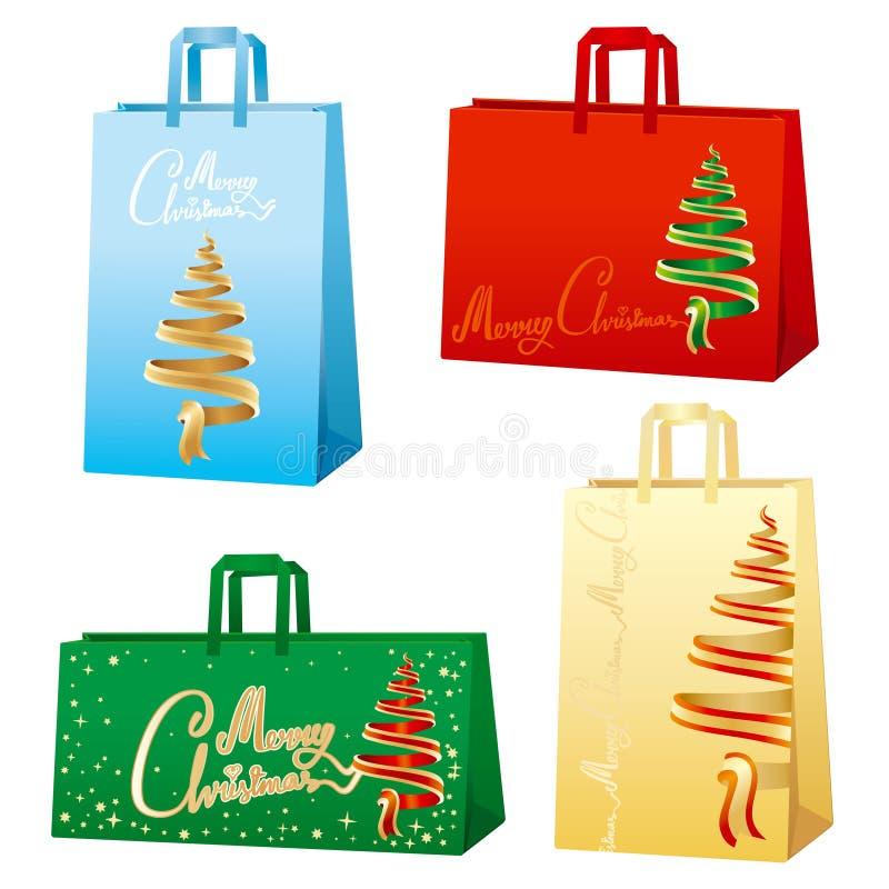 De zakken van Kerstmis - Vrolijke Kerstmis royalty-vrije illustratie