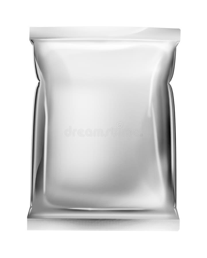 De zakpakket van de aluminiumfolie royalty-vrije illustratie
