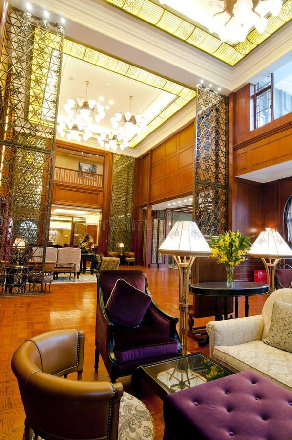 De Zalen van het hotel stock fotografie