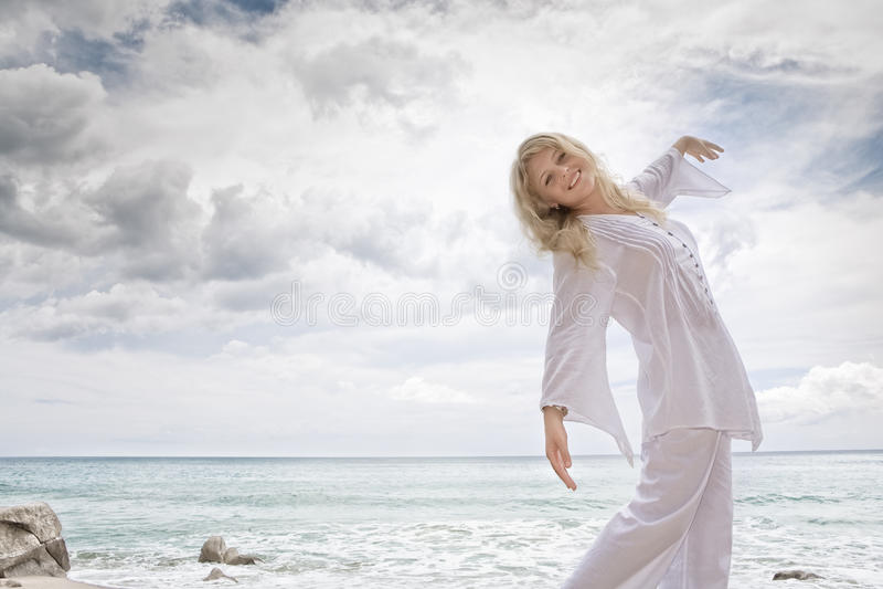 De zaligheid van het strand stock afbeelding