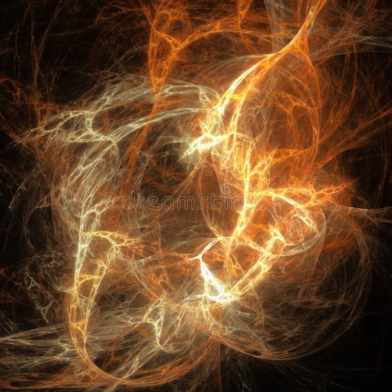 De zandstorm betrekt het gloeien krommen futuristisch fractal digitaal art. vector illustratie