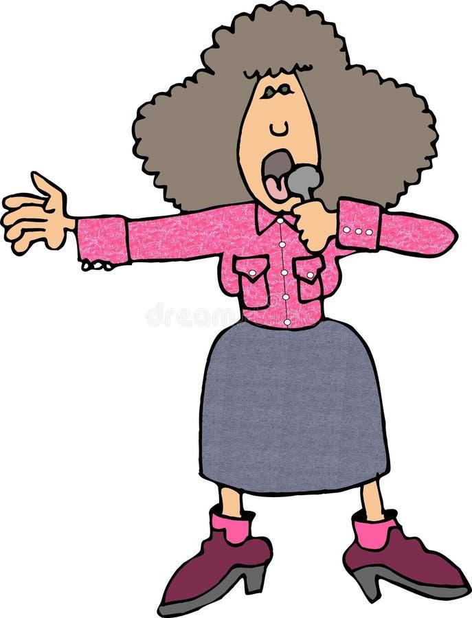 De zanger van de country muziek royalty-vrije illustratie