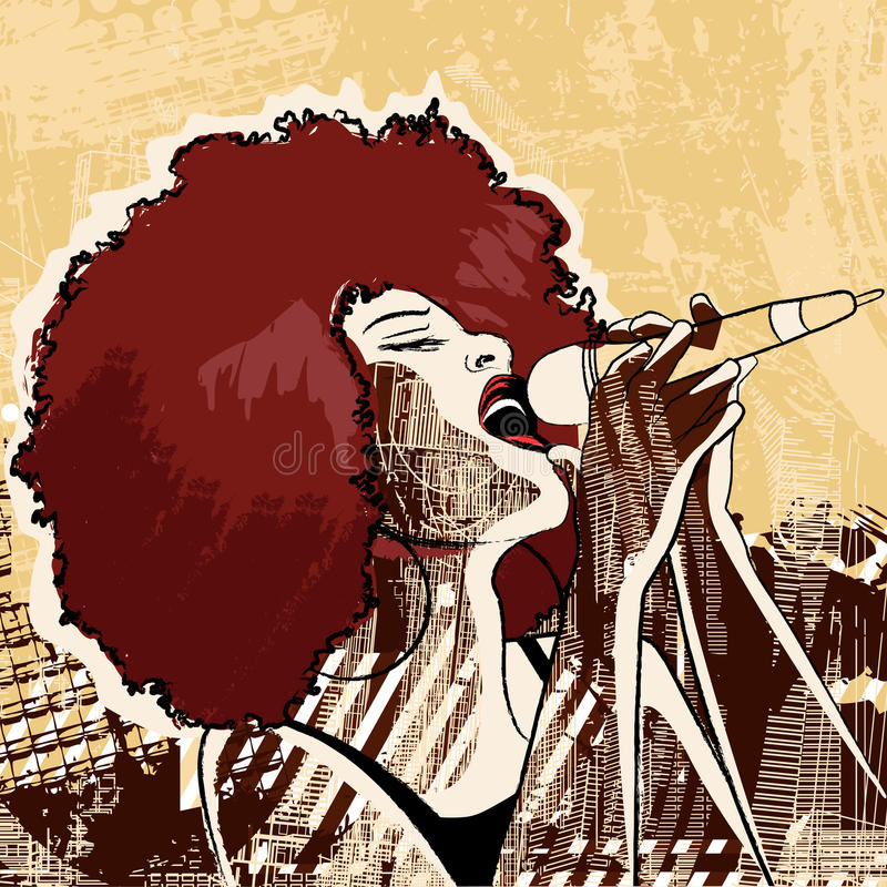 De zanger van de jazz vector illustratie