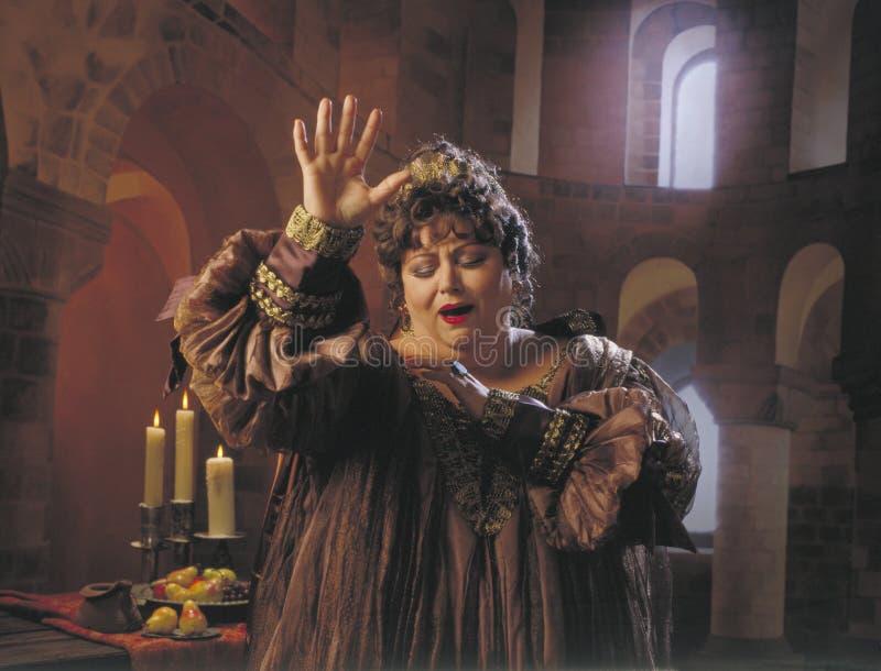 De zanger van de opera stock foto's