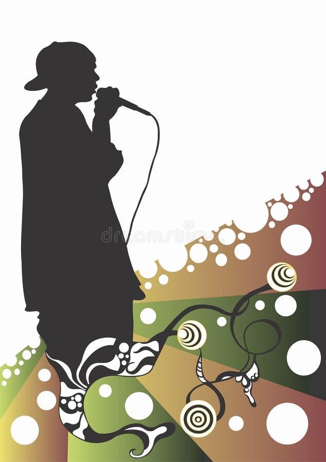 De zanger van rapporteur vector illustratie