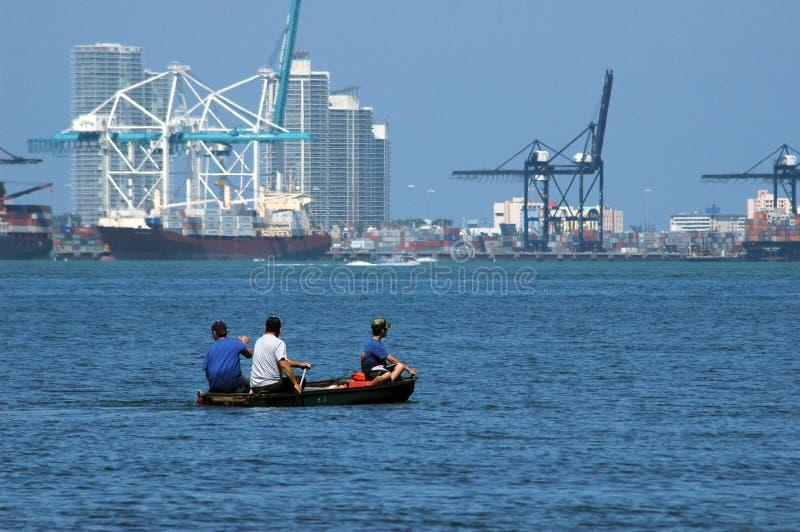 De zeehaven van Miami stock foto