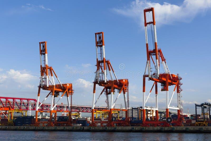 De zeehaven van Osaka stock afbeelding