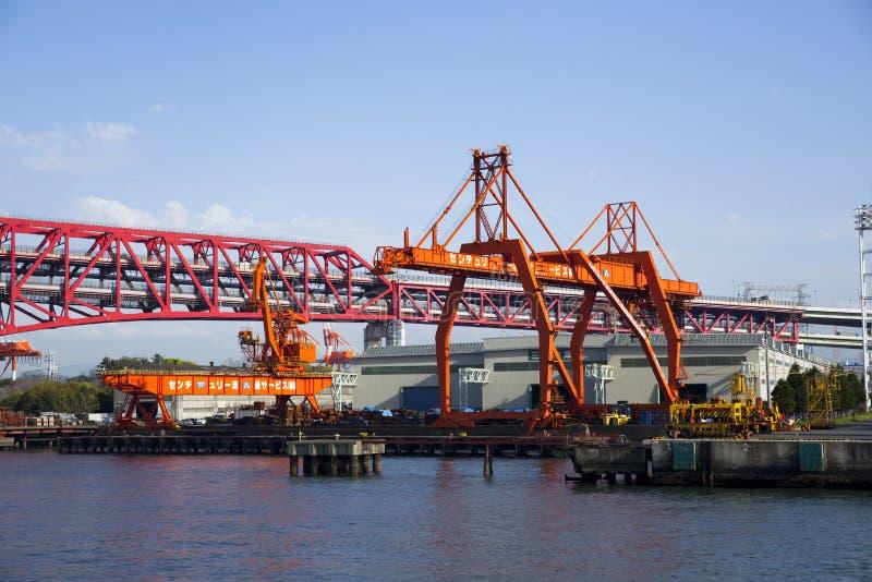 De zeehaven van Osaka royalty-vrije stock foto