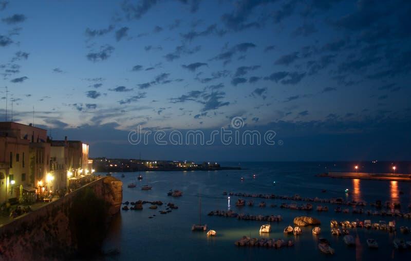 De zeehaven van Otranto stock fotografie