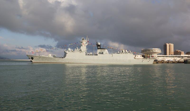 De zeekrachten van raketfregatten van de Republiek China royalty-vrije stock afbeeldingen
