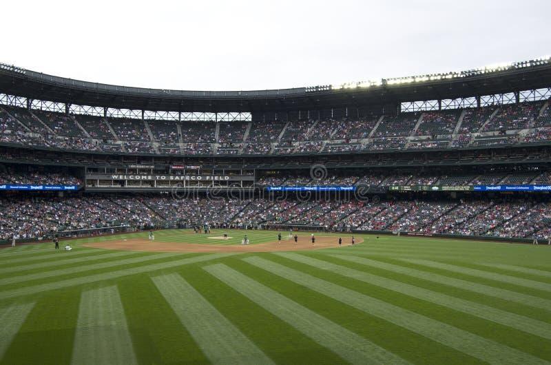 De zeelieden van Seattle versus La-het spel van het engelen 2015 honkbal stock foto