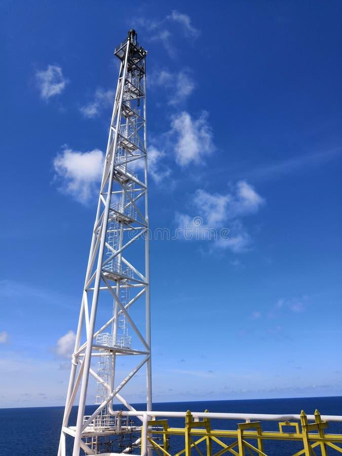 De zeemodule van het ruwe olieproces stock foto's