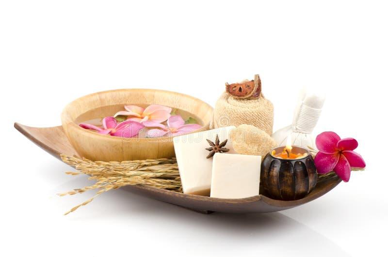 De zeep van de rijstmelk. royalty-vrije stock afbeeldingen