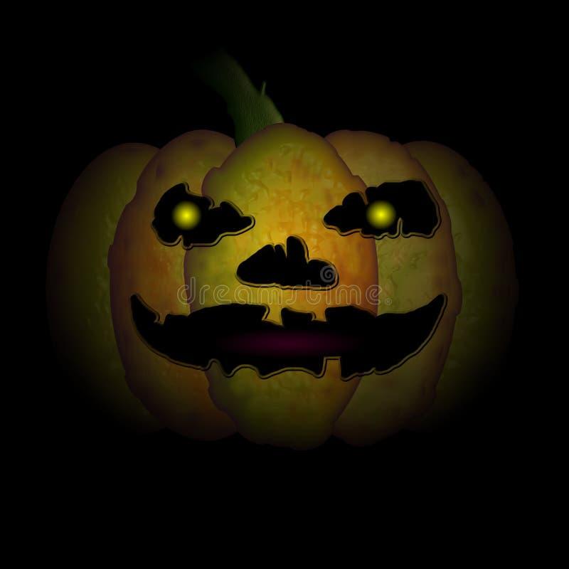 De zeer Enge Pompoen van Halloween stock illustratie