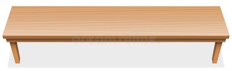 De zeer Lange Houten Oppervlakte van het Lijsttafelblad stock illustratie