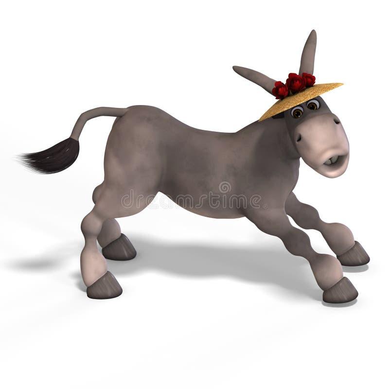 De zeer leuke ezel van Toon royalty-vrije illustratie