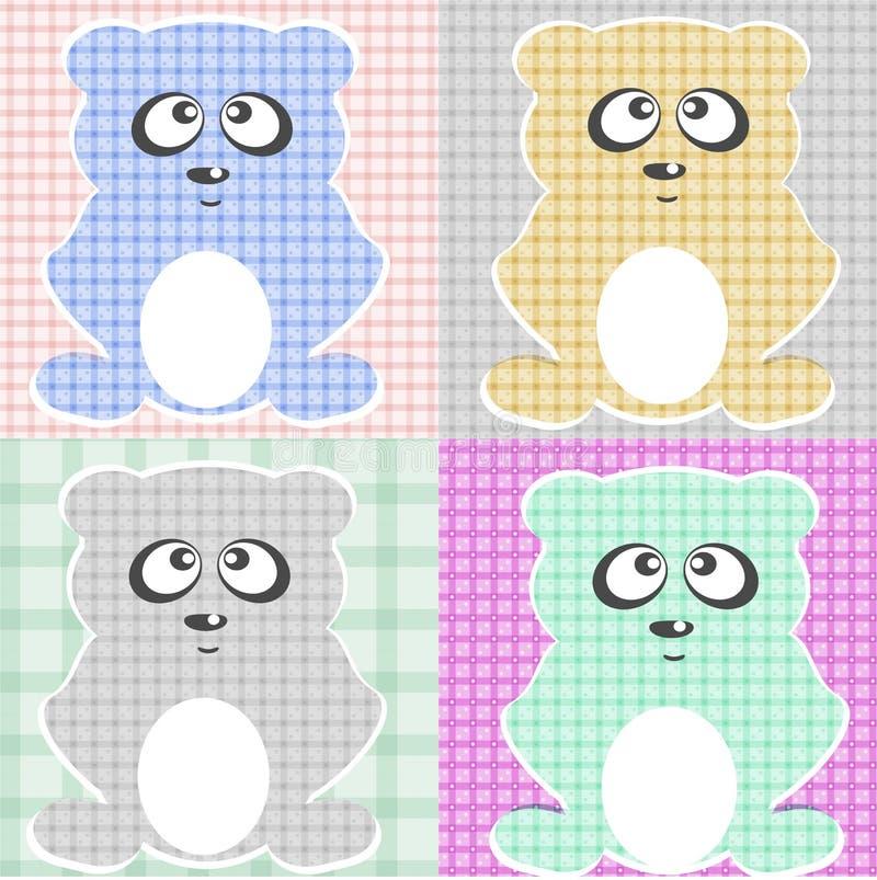 De zeer Leuke vectorreeks van de Teddybeer   royalty-vrije illustratie