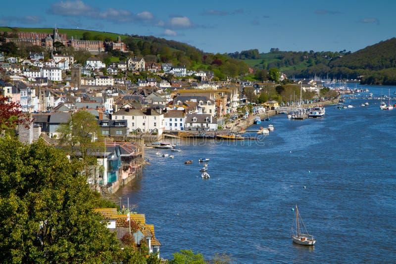 De zeestad van Dartmouth, Devon stock foto's