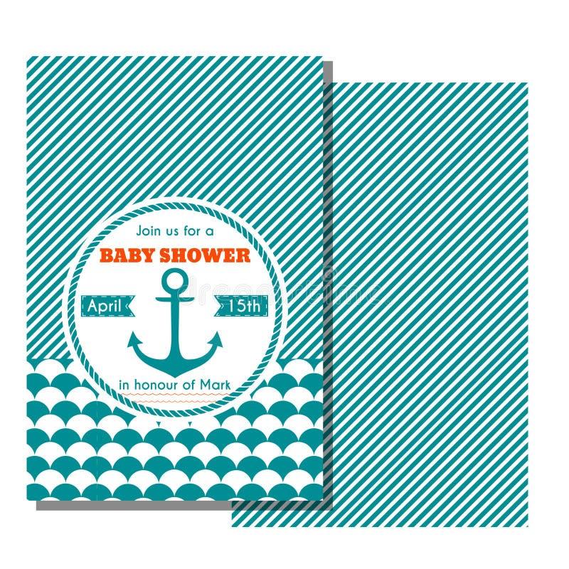 De zeevaartkaart van de babydouche vector illustratie