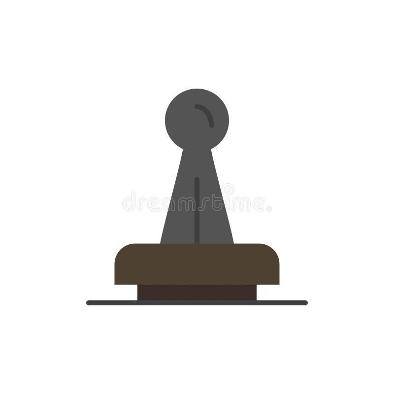De zegel, Goedkeuring, Wettelijke Instantie, Teken, Rubber, verzegelt Vlak Kleurenpictogram Het vectormalplaatje van de pictogram royalty-vrije illustratie