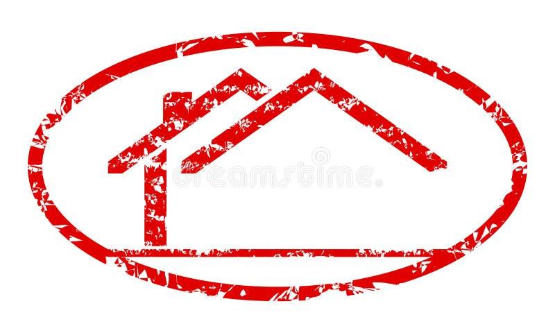 De zegel met het embleem van het huis royalty-vrije illustratie