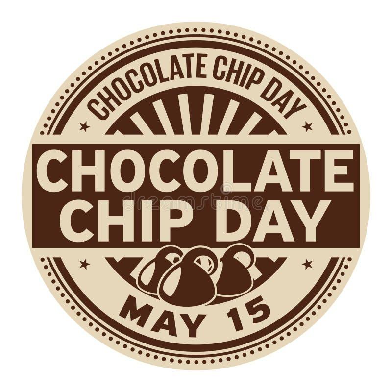 De zegel van chocoladechip day stock illustratie