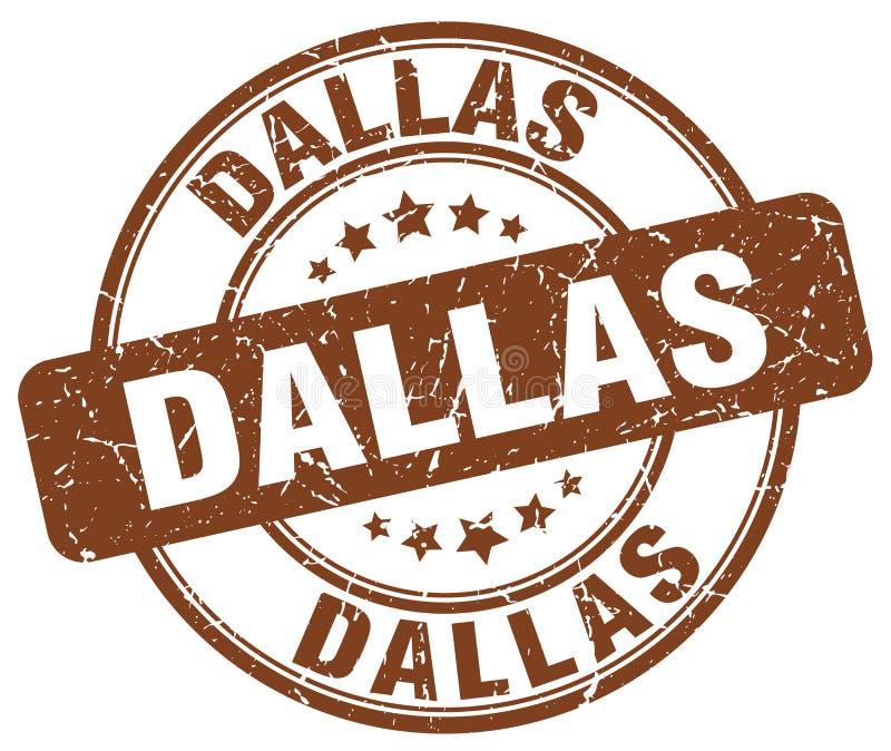 De zegel van Dallas vector illustratie