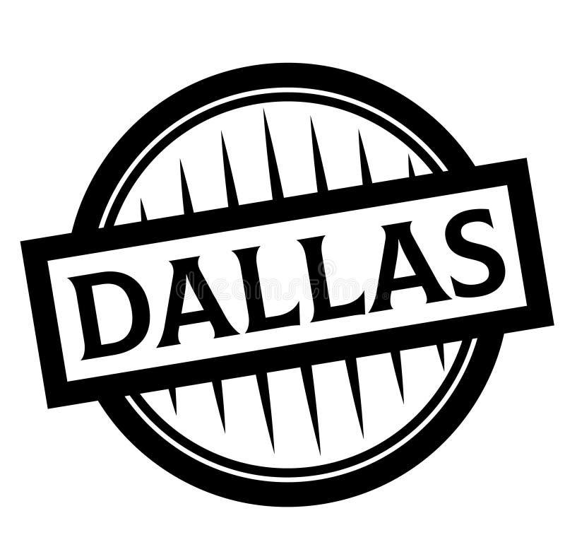 De zegel van DALLAS op wit vector illustratie