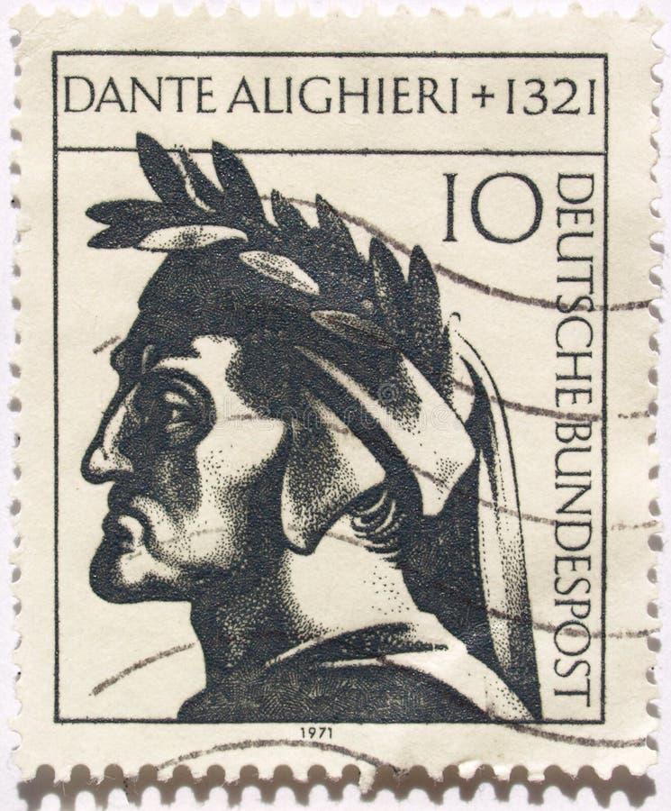 De zegel van Dante royalty-vrije stock afbeeldingen