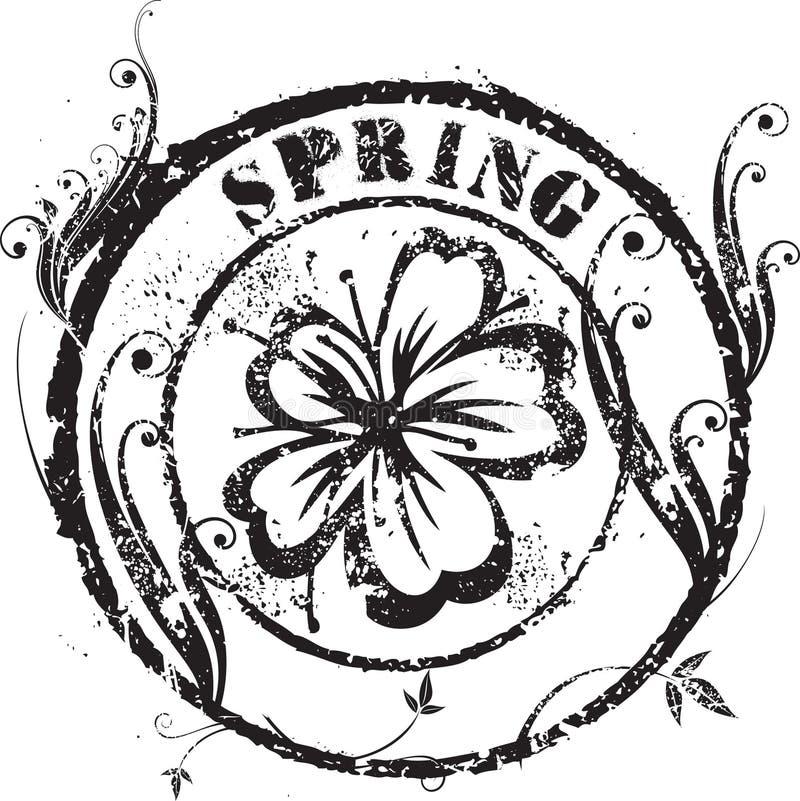 De zegel van de lente vector illustratie