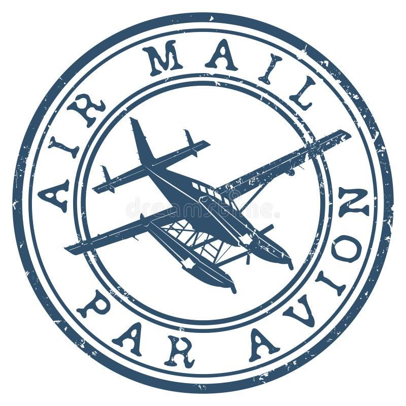 De zegel van de luchtpost stock illustratie