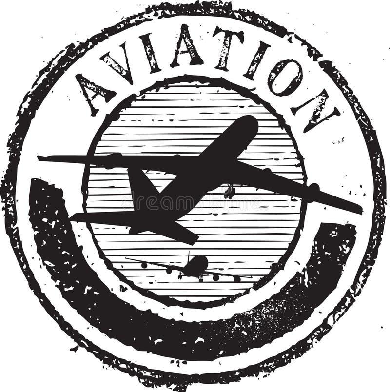 De zegel van de luchtvaart vector illustratie
