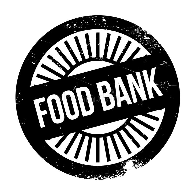 De zegel van de voedselbank royalty-vrije illustratie