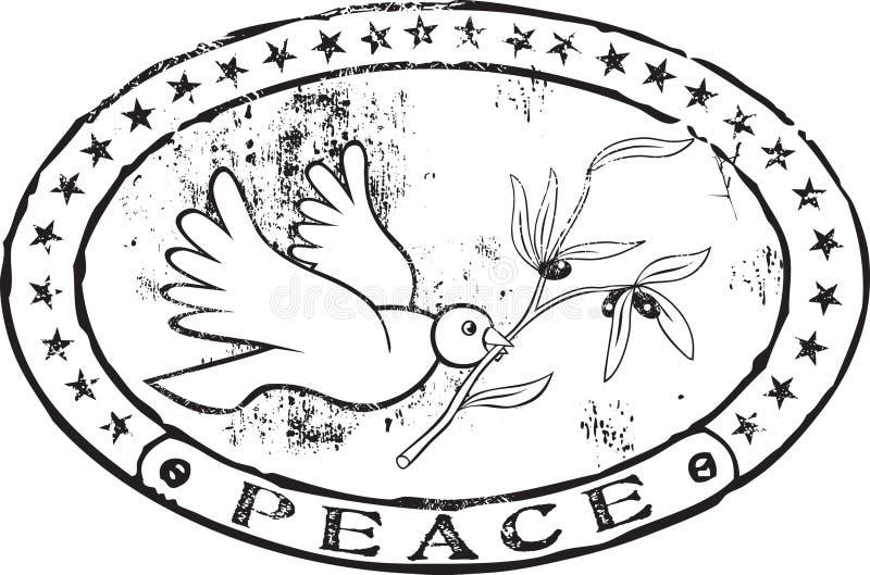 De zegel van de vrede royalty-vrije illustratie