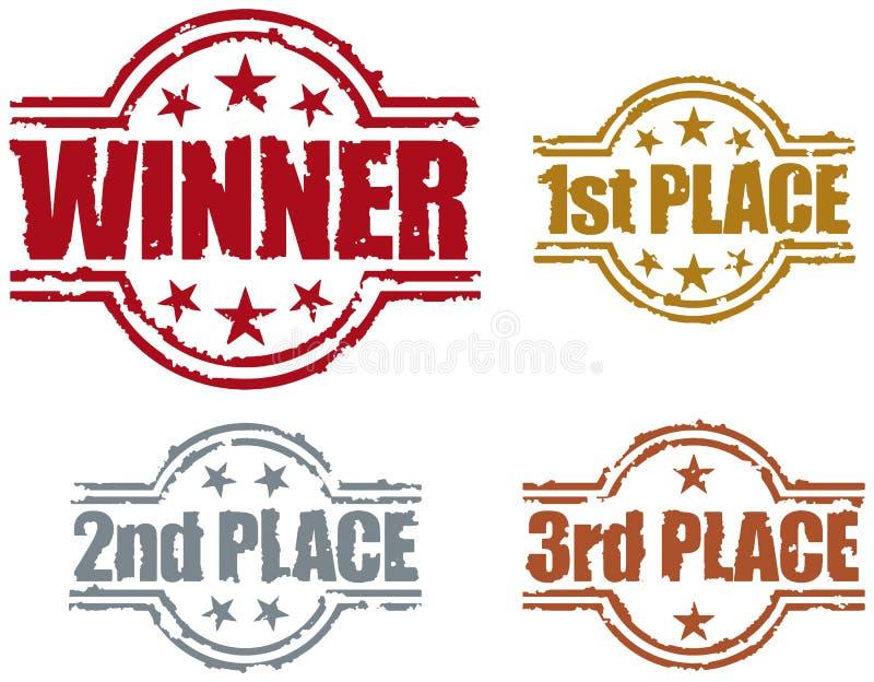 De Zegel van de winnaar royalty-vrije illustratie