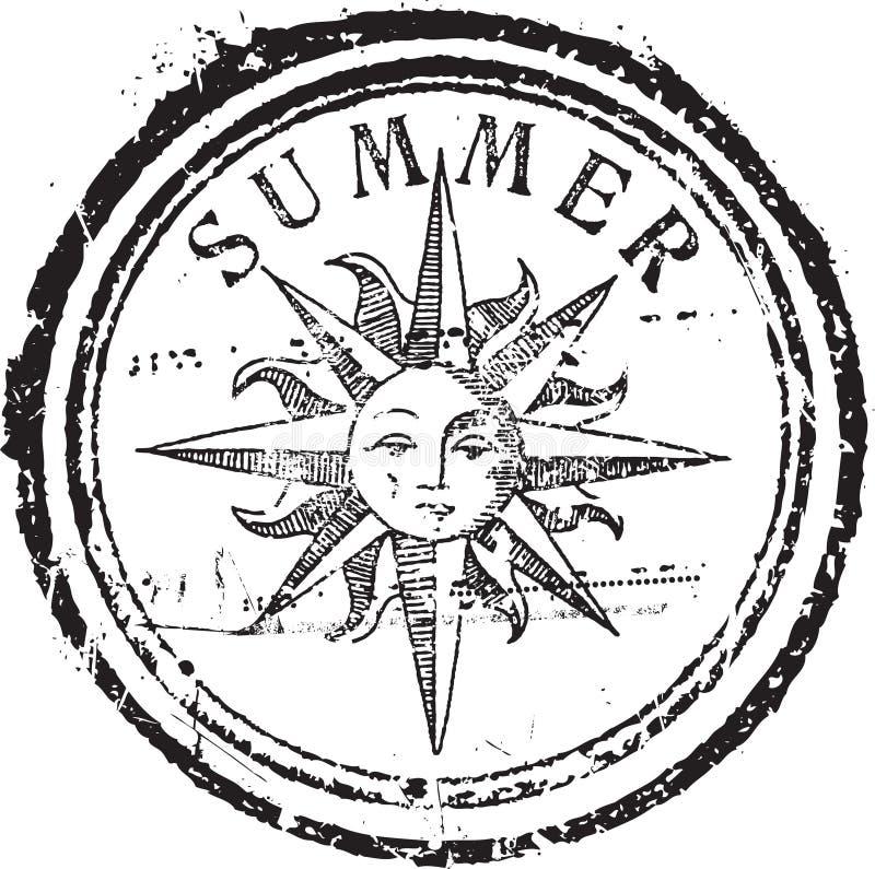 De zegel van de zomer royalty-vrije illustratie