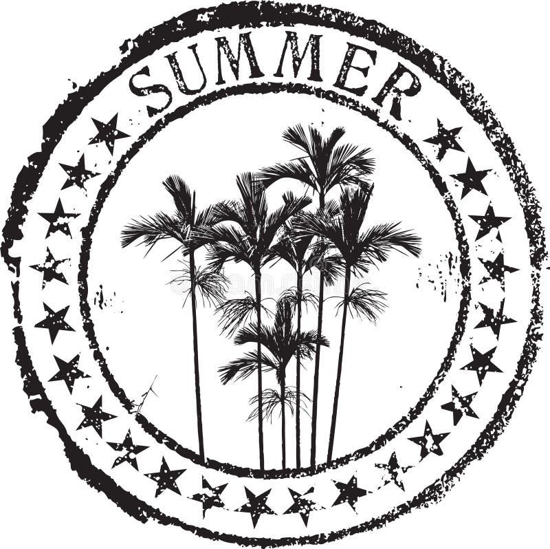 De zegel van de zomer stock illustratie