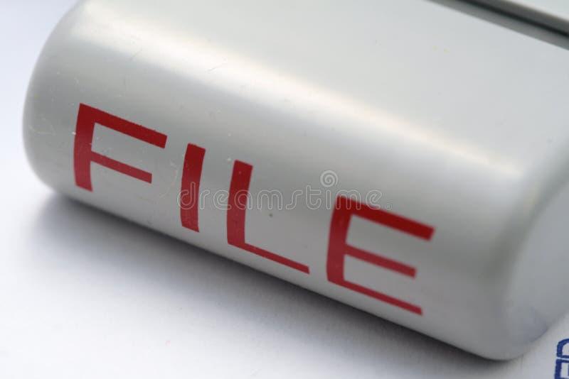 De Zegel van het dossier stock afbeelding