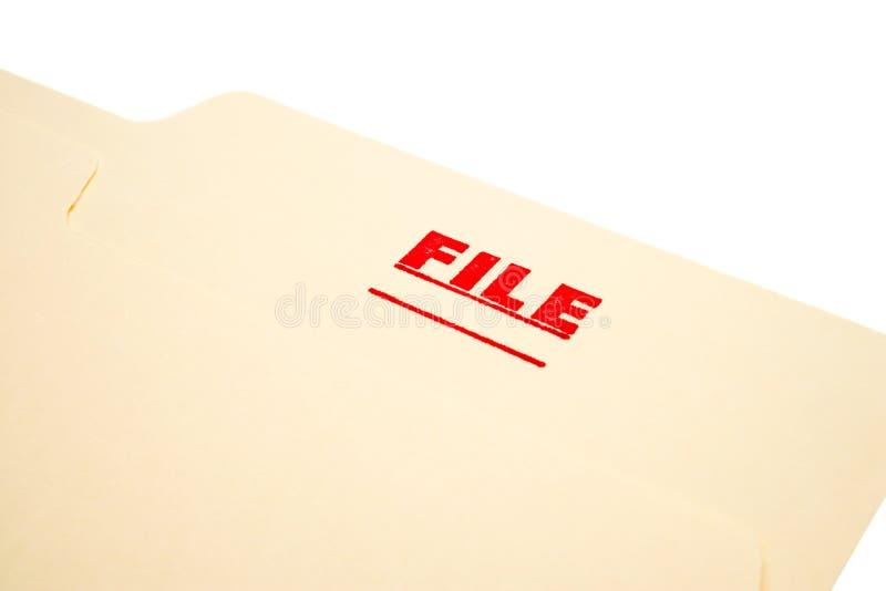 De zegel van het dossier op papier royalty-vrije stock foto