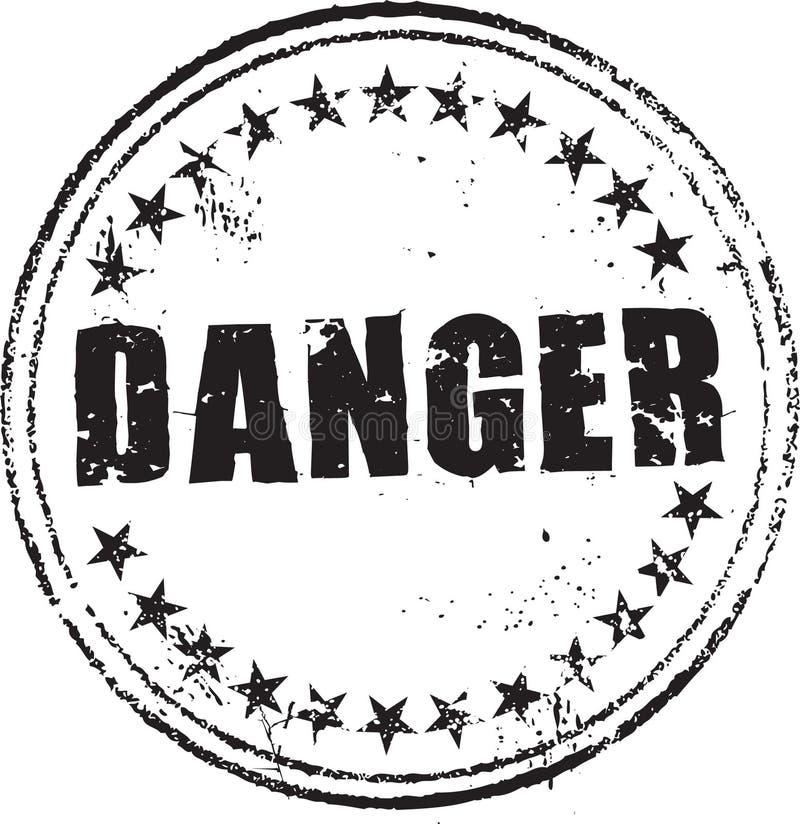 De zegel van het gevaar stock illustratie