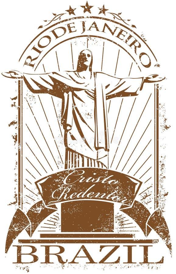 De zegel van het Rio de Janeiro royalty-vrije illustratie
