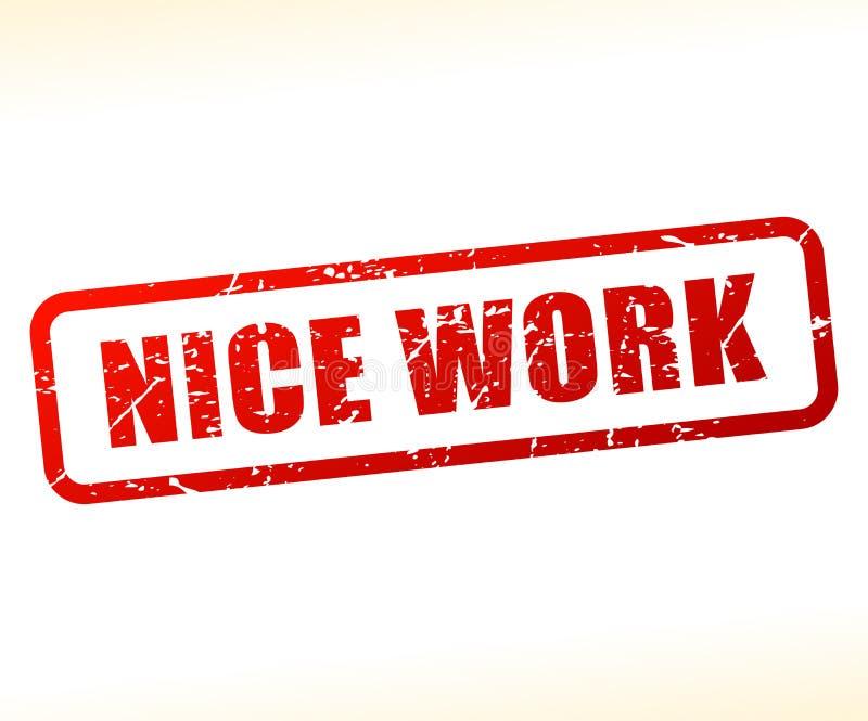 De zegel van de het werktekst van Nice vector illustratie