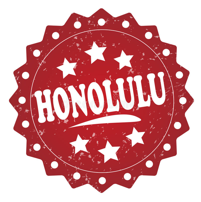 De zegel van Honolulu grunge stock illustratie