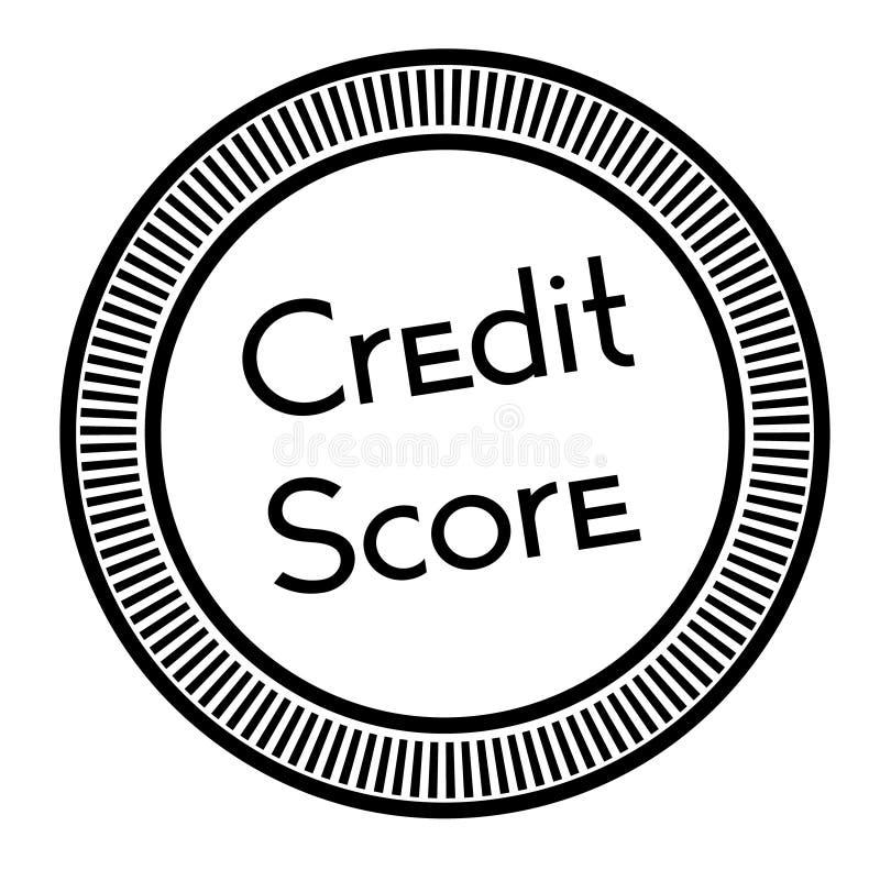 De zegel van de kredietscore op witte achtergrond vector illustratie