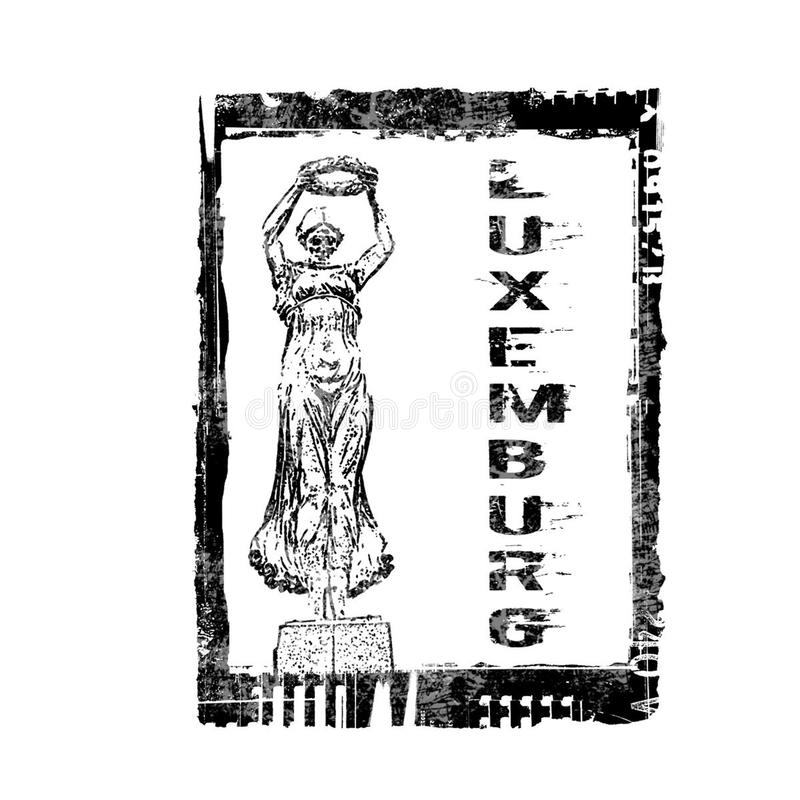 De Zegel van Luxemburg stock afbeeldingen
