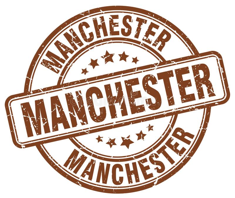 De zegel van Manchester stock illustratie