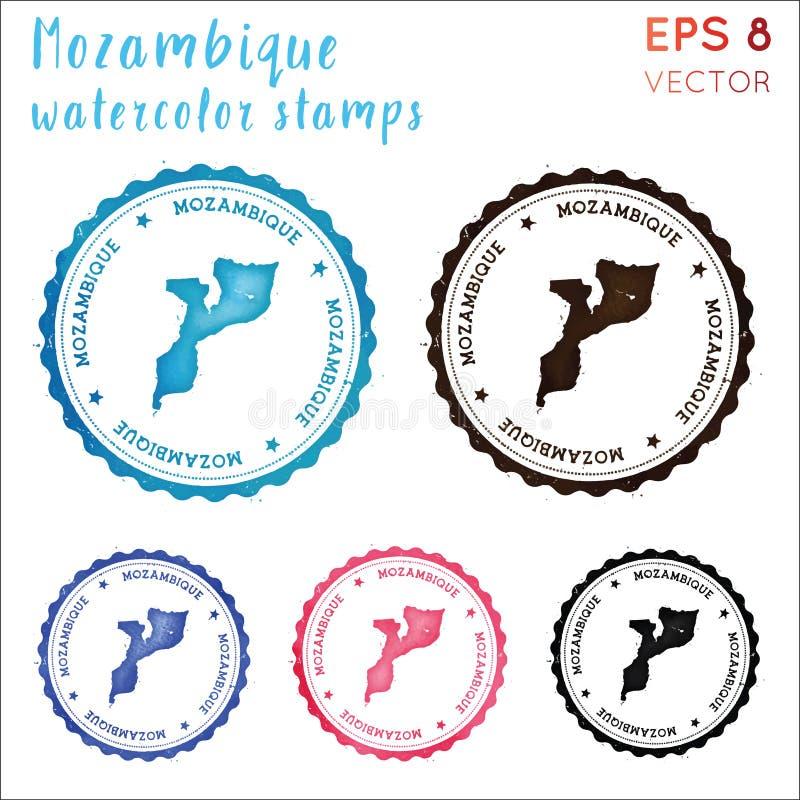 De zegel van Mozambique vector illustratie
