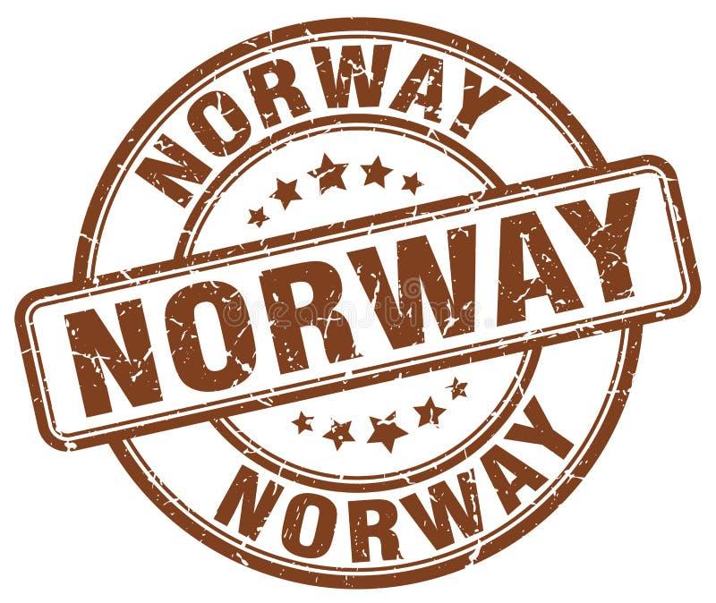 De zegel van Noorwegen stock illustratie