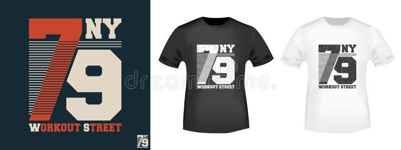 De zegel van de de t-shirtdruk van de trainingstraat stock illustratie